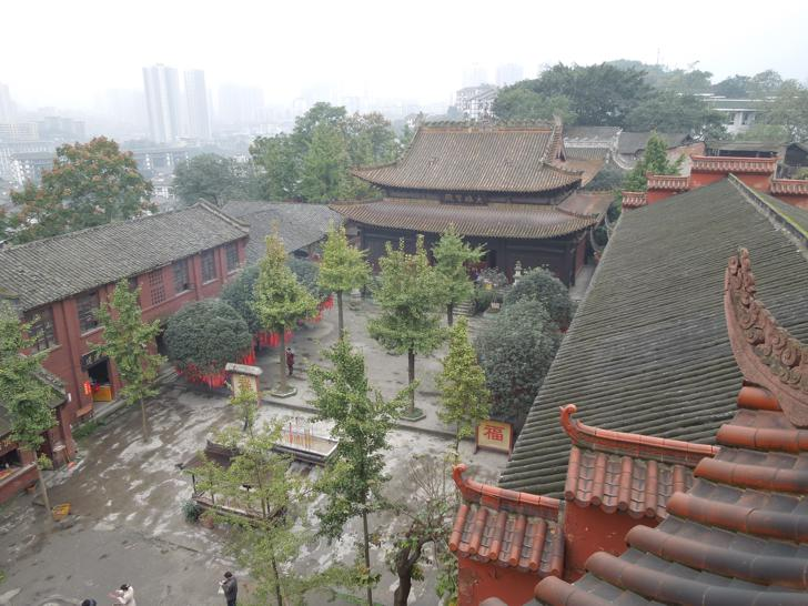 Courtyard of the Temple in Ciqikou