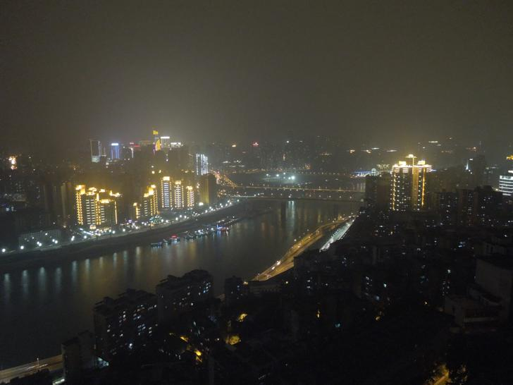 View towards Jialing River by Night